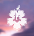 Hibiscus flower icon vector image