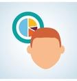 Flat about achievement design vector image