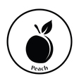 Icon of Peach vector image