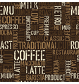 coffee words background vector image vector image