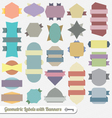 Color Ribbon and Banner Labels vector image