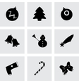 cristmas icons set vector image