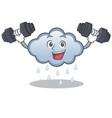 fitness rain cloud character cartoon vector image