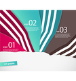 Four colored paper notes with place for your own vector image
