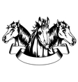 Heads horses vector image