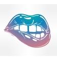 Sexy biting lips vector image