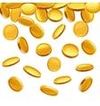 Falling gold coins financial concept vector image vector image