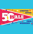 big sale concept banner template vector image