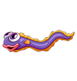 A colorful snake fish vector image vector image