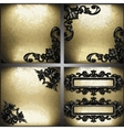 gold and silver background set vector image vector image