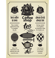 retro Coffee and tea vector image