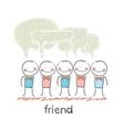 friend vector image