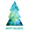 Abstract low poly Christmas tree vector image vector image