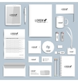 White set of corporate identity templates vector image