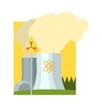 Alternative Energy Nuclear Power vector image