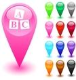 FAQ button vector image