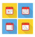 calendar and to do list colorful flat icons vector image