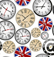 Clock seamless pattern vector image
