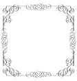 Delicate calligraphic frame vector image
