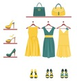 fashion items vector image
