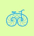 old retro bicycle line art bike design vector image