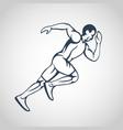 run running man icon logo vector image