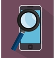 searching smartphone education online purple vector image