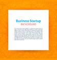 startup paper template vector image