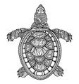 turtle isolated ornamental oriental tribal vector image