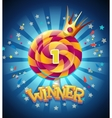 winner window vector image