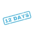 12 Days Text Rubber Stamp vector image
