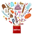 Shopping Europe Travel Composition vector image