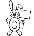 bunny with sign vector image