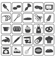Basic Bakery Icons Set vector image vector image