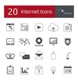 20 icons for the Internet vector image