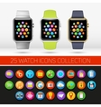 Smart watch variations vector image