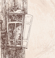 hand drawing wooden window vector image