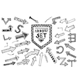 Hand drawn arrow icons set isolated on white vector image