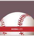 bright baseball background vector image