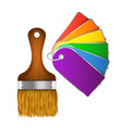 Brush with paint samples vector image