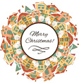 Christmas background with houses vector image