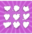 Comic Valentine Heart vector image