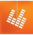 equalizer icon Music sound wave symbol vector image