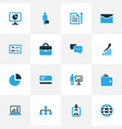 job colorful icons set collection of local area vector image