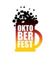 Oktoberfest beer mug Typographic National Holiday vector image