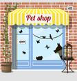 pet shop store vector image
