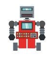 robot machinery automation electronic vector image