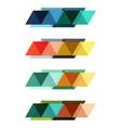set of blank geometric infographic web vector image