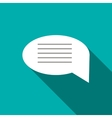 Speech bubble icon flat style vector image