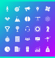 startup solid icons vector image